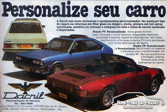 O primeiro registro da marca Dacril foi encontrado neste anúncio de março de 1983.