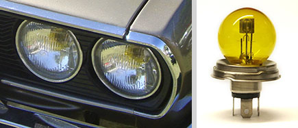 Os faróis do Passat 4M eram diferentes dos TS e LSE, além de utilizar lâmpadas convencionais amarelas.