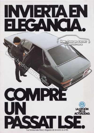 Folder do Passat LSE 1982 para exportação