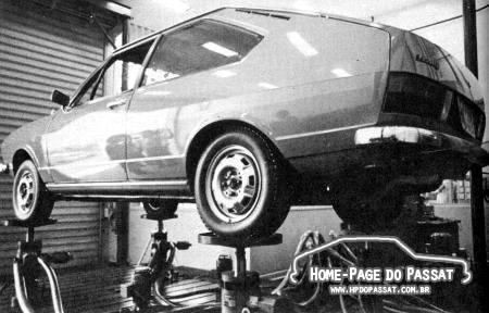 Teste de resistência do Passat, realizado pela VW.