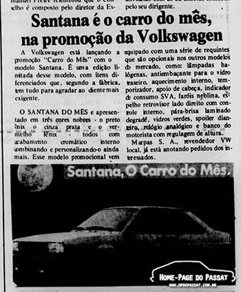 Matéria sobre o Santana do Mês no jornal