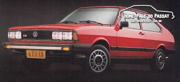 Rodas usadas no Passat - Rodas Avus, Passat GTS Pointer 1.8 1984