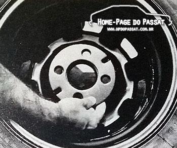 O estepe que acompanhava os Passat equipados com rodas de liga aro 13