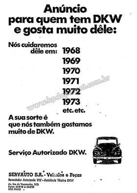 Concessionária Servauto - Anúncio de maio de 1968