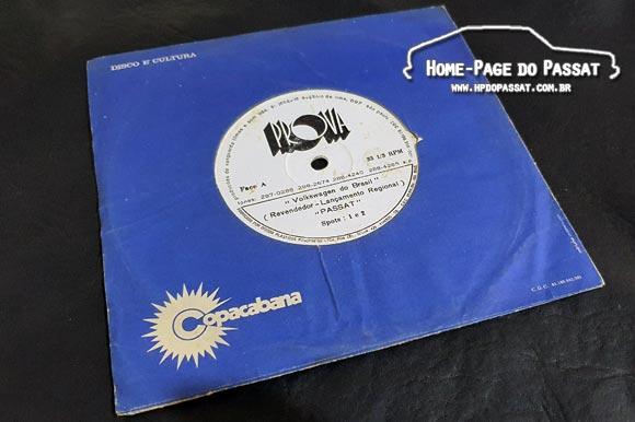 Disco de vinil - Spots radiofônicos do Passat 1974