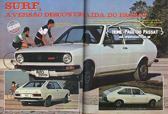 Passat Surf 1978 - Revista Auto Esporte