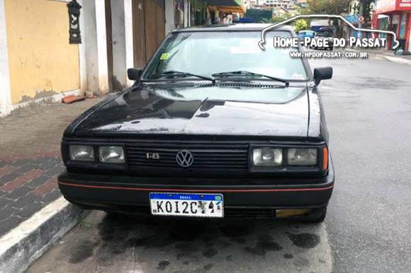 O primeiro Passat que encontramos com a placa Mercosul foi este GTS Pointer 1987, anunciado na OLX.