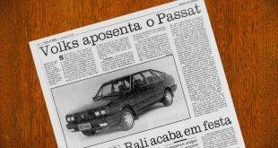Fim da produção do Passat: 30 anos